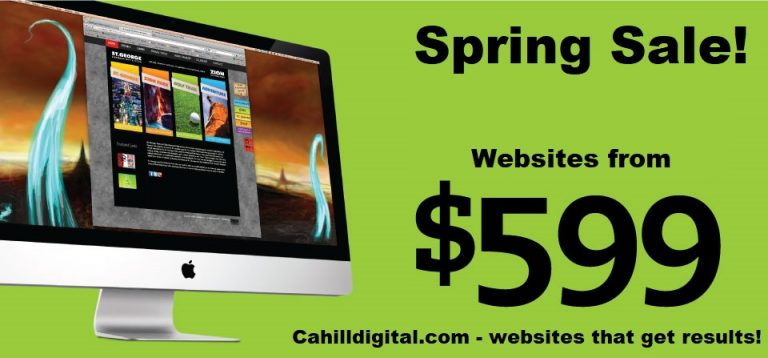 Cahill Digital offers websites starting from $599